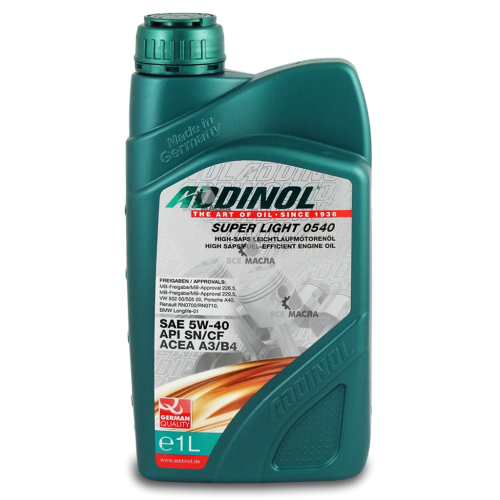 Addinol Super Light 0540 5W-40 1 л.