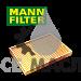 Фильтр салона (угольный) MANN-FILTER CUK29005