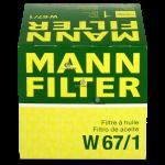 Фильтр масляный MANN-FILTER W67/1