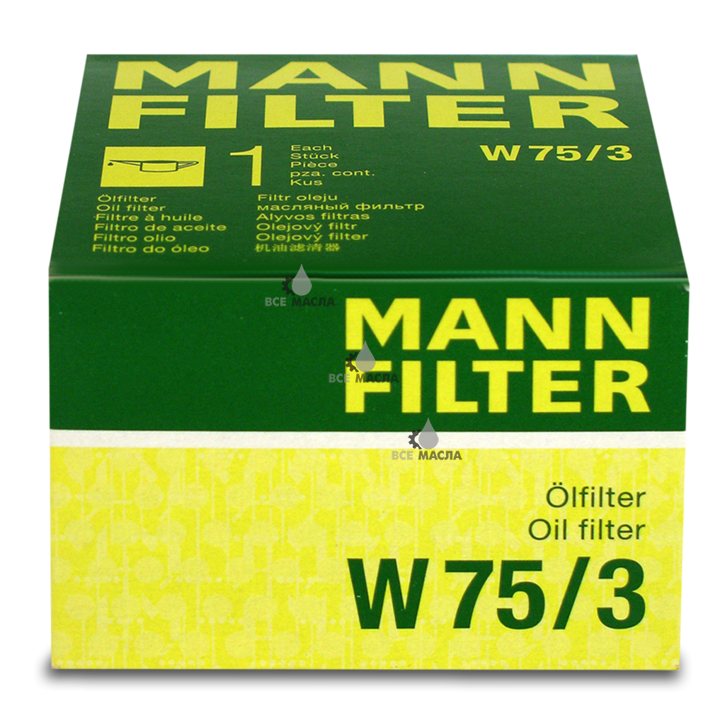 Фильтр масляный MANN-FILTER W75/3