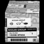 Масляный фильтр Nissan 15208-9F60A