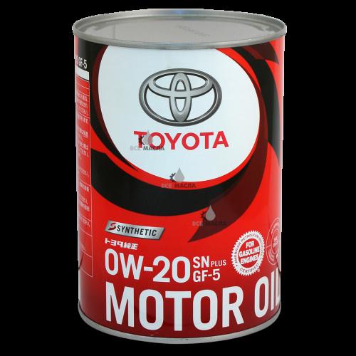 Toyota Motor Oil SN/GF-5 0W-20 1 л.